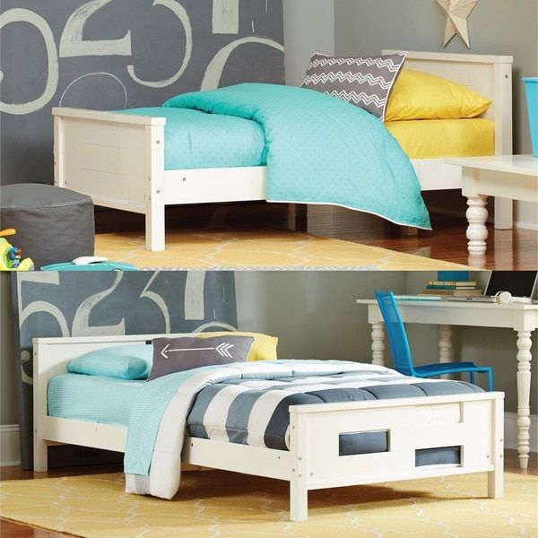 Baby Relax Phases And Stages White Toddler To Twin Convertible Bed Convertable