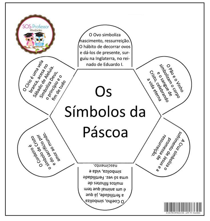 Atividade Interativa - Símbolos da Páscoa     No caderno do aluno           No verso de cada símbolo, o aluno deverá fazer o desenho.   A...