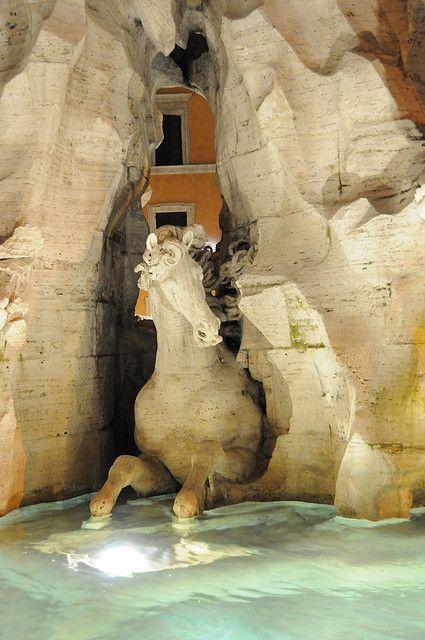 Fontana dei Quattro Fiumi, Roma by Gian Lorenzo Bernini (1648 - 1651)