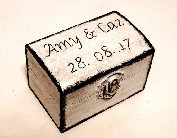 Ring Bearer Pillows Ring Holder Box for Rings Engraved Ring