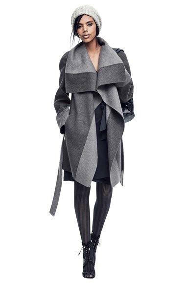 Diane von Furstenberg 'Mackenzie' Two-Tone Cozy Coat   Nordstrom