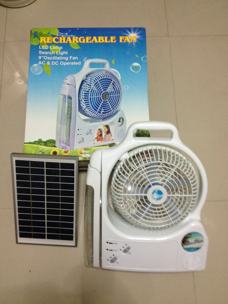 Solar Lamp Fan Emergency Light Dc 12v Fan Light 10w Solar