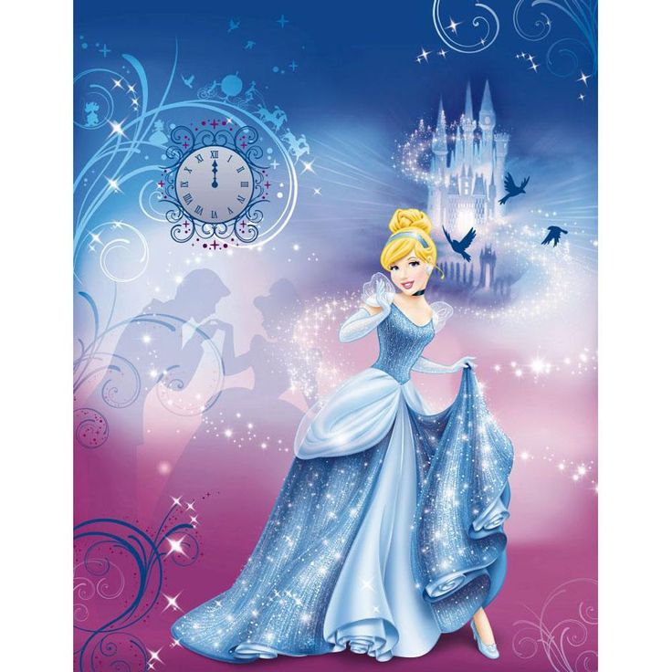 Best 25 princess mural ideas on pinterest castle mural for Cinderella wall mural