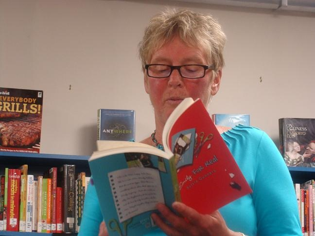 "Sylvia Gunnery reading from her latest YA novel, ""Emily for Real."""