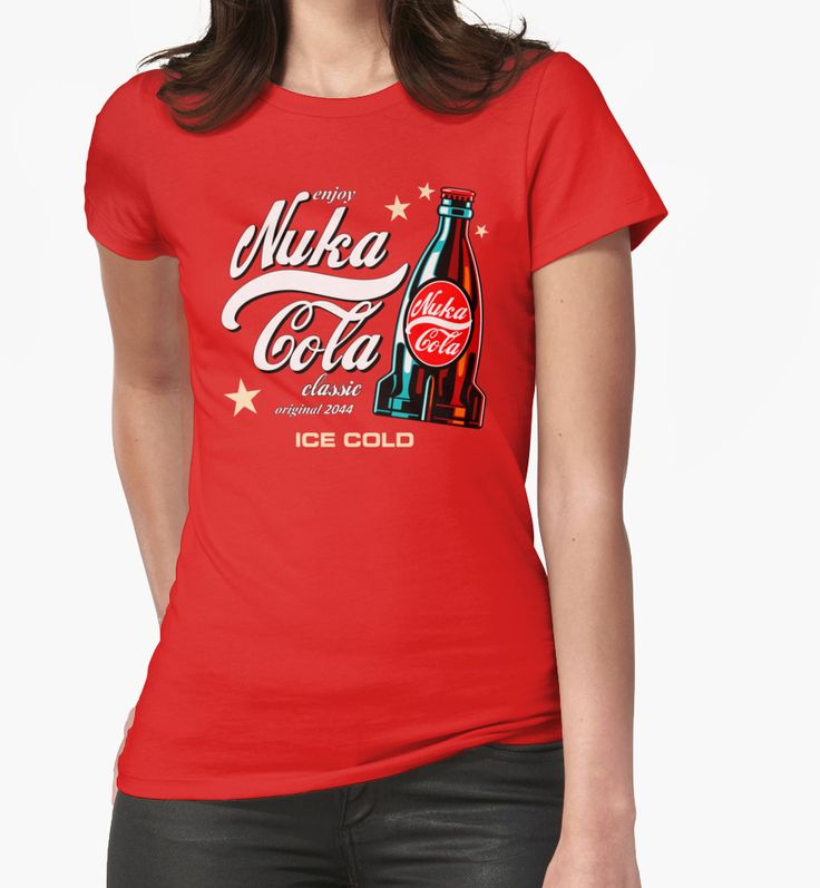 """Nuka Cola"" Womens Fitted T-Shirts by Remus Brailoiu 