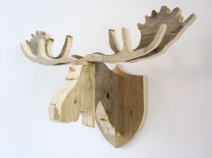 Elandkop 'Henk' van steigerhout | Te koop bij w00tdesign