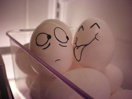 :-) funny prank to pull on my hubby before he makes eggs for the boys!