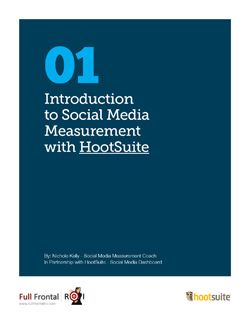 "Introduction to Social Media Measurement With HootSuite    Today there is an increased expectation for marketers to demonstrate the value that social media provides. The task, however, has proven to be extremely difficult because the language of social media metrics — ""Likes,"" followers, etc. — is different than the traditional metrics of sales, cost and revenue, by which most measure success.    With the right measurement tools and know-how, this misalignment of expectations can be…"