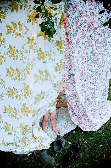 Sheet tent for backyard camping carriemonsterrr
