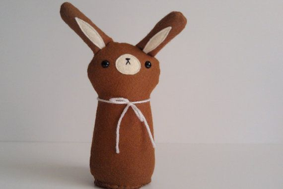 MADE TO ORDER   handmade plush woodland bunny Coco by sleepyking, $26.00