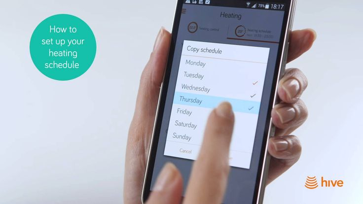 Hive - How to set your Heating & Hot Water Schedule on Android