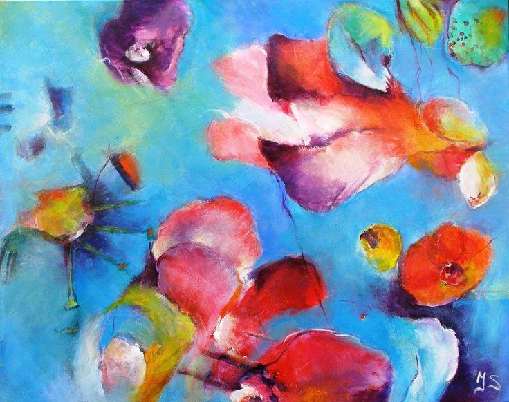 Painting by Joke Schepers. Vanaf 21 juni doe ik mee aan de kunst en tuin tien daagse. Mijn werk is dan te zien in de heemtuin 'tussen de venen' in Muntendam. Deze is dagelijks open en er is dan van alles te beleven. Speciaal voor deze tuintiendaagse heb ik me laten inspireren door groei en bloeivormen. Dus kom kijken! https://www.facebook.com/joke.schepers.9
