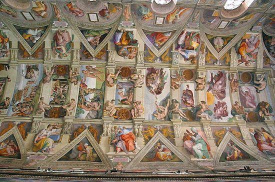 Sistine Chapel ceiling 2002