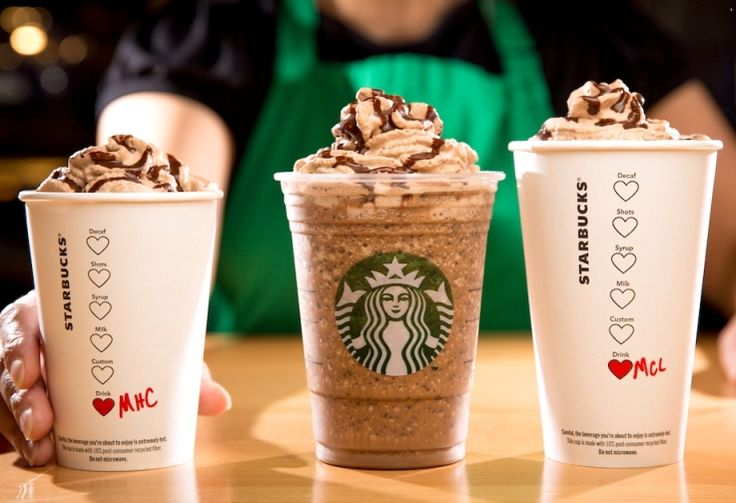 Starbucks Valentine's Day Drinks, Molten Chocolate Hot Chocolate, Frappuccino and Latte!