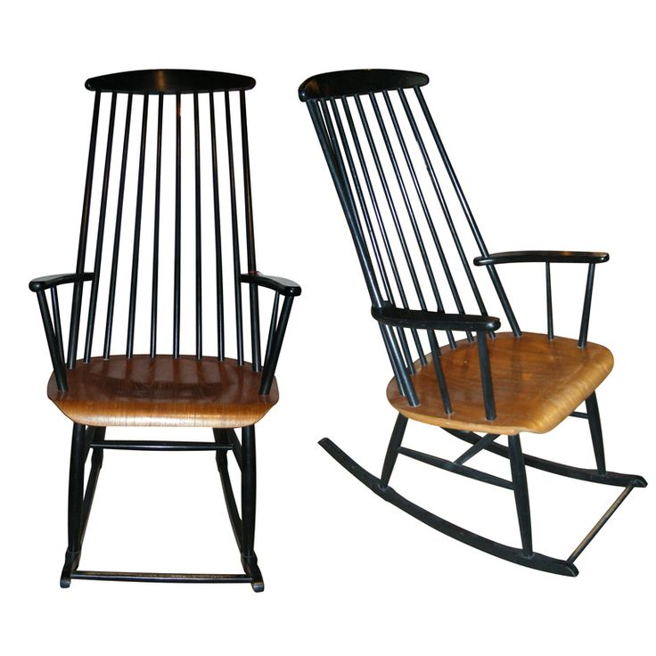 Two 1960s Rocking Chairs by Ilmari Tapiovaara | From a unique collection of antique and modern rocking chairs at http://www.1stdibs.com/furniture/seating/rocking-chairs/