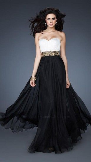 42 best Black and White Prom Dresses images on Pinterest | Formal ...