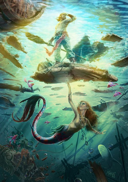 A mermaid's tale by ~onemannbrand