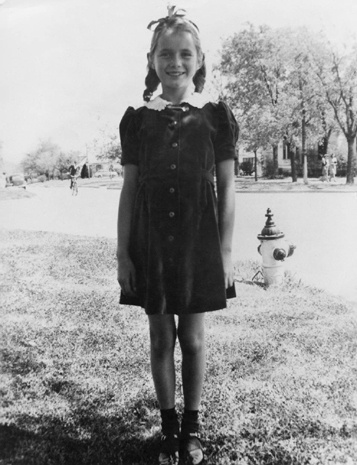 """Debbie Reynolds: Mary Francis Reynolds was age 8 in this photo. She wanted to be a gym teacher, but instead became a """"Movie Star"""" after winning the Miss Burbank contest."""