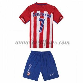 Atletico Madrid Dětské Fotbalové Dresy 2016-17 Griezmann 7 Domáci Dres