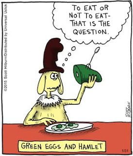 Mystery Fanfare: Cartoon of the Day: Green Eggs & Hamlet