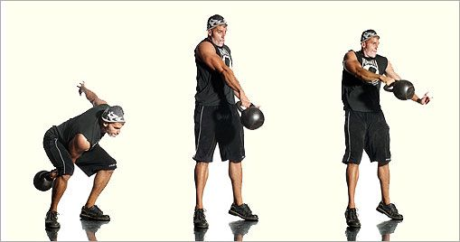 One-Arm Kettlebell Swing      The kettlebell is my absolute favorite workout. Cardio and Strength Combined.