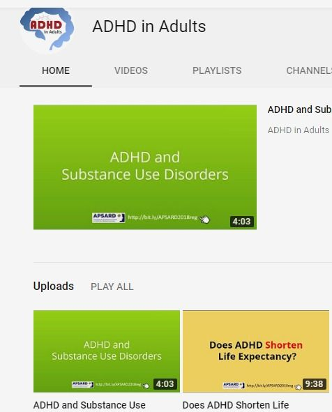 ADHD in Adults - YouTube Channel - For professionals and patients