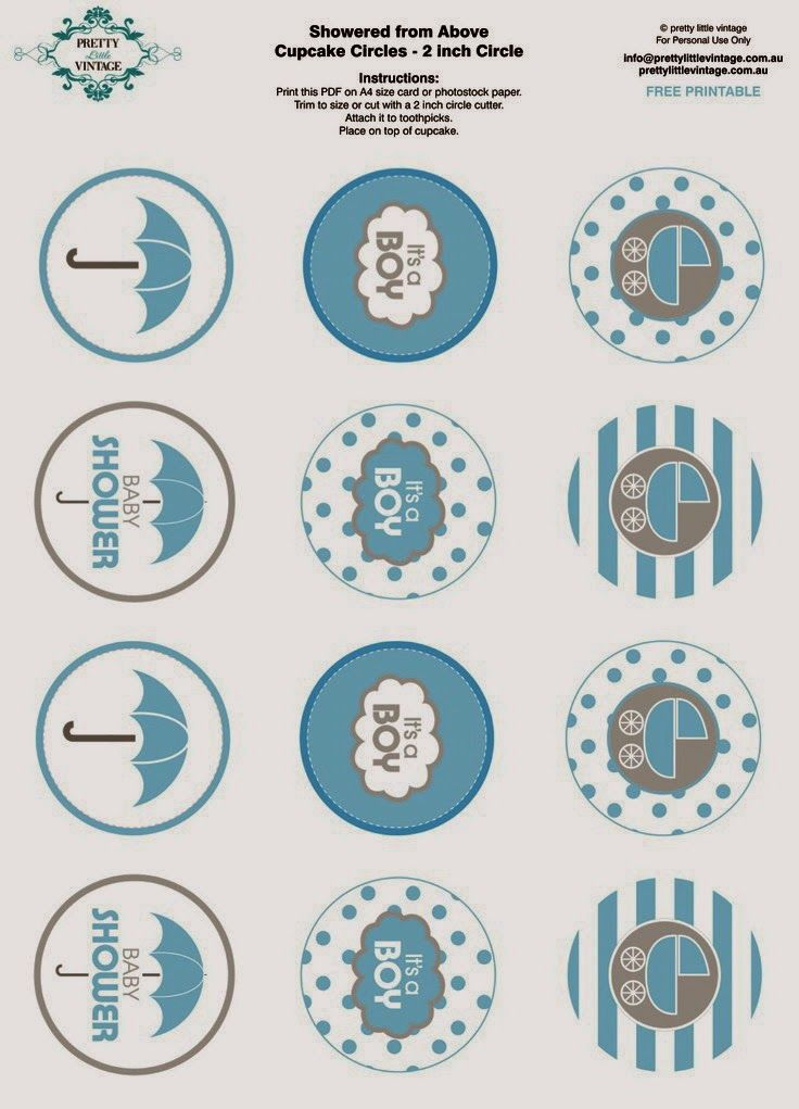 Free Baby Shower Tags Part - 50: Free Printable Baby Shower Party Circle Tags Cupcake Toppers Via Karas  Party Ideas