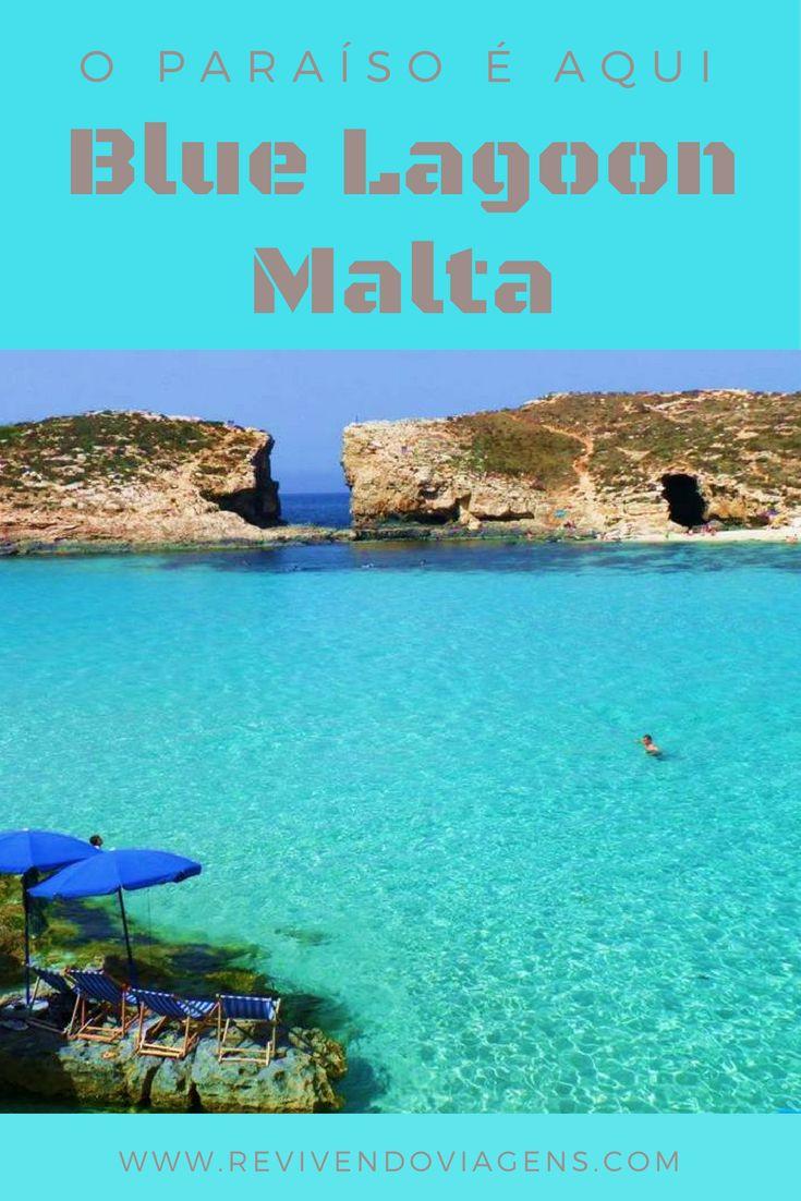 A Blue Lagoon é uma lagoa de água do mar de um azul incrível! Ela fica em Comino, uma das ilhas de Malta, meu país queridinho do coração! Europa.