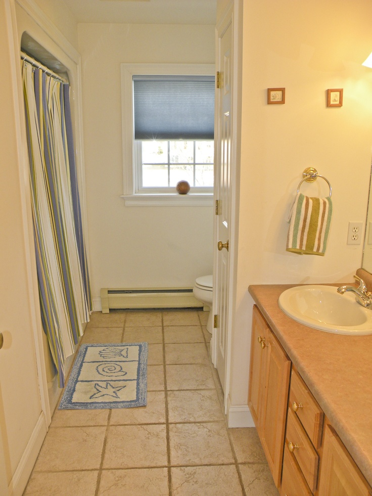 Guest Bathroom With Tile Floor Home Decor That I Love
