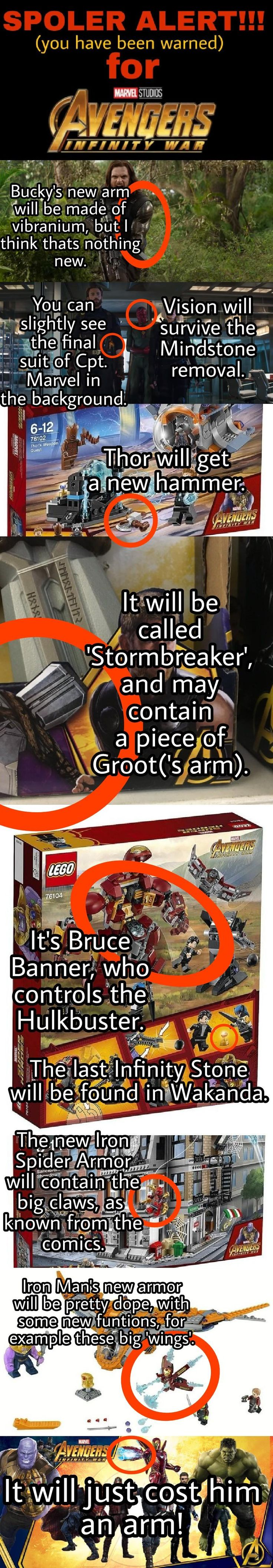 There have been a few leaked pictures of Lego Infinity War sets another toy and a new poster. These three contain some HUGE reveals about the upcoming movie. Spoilers ahead!