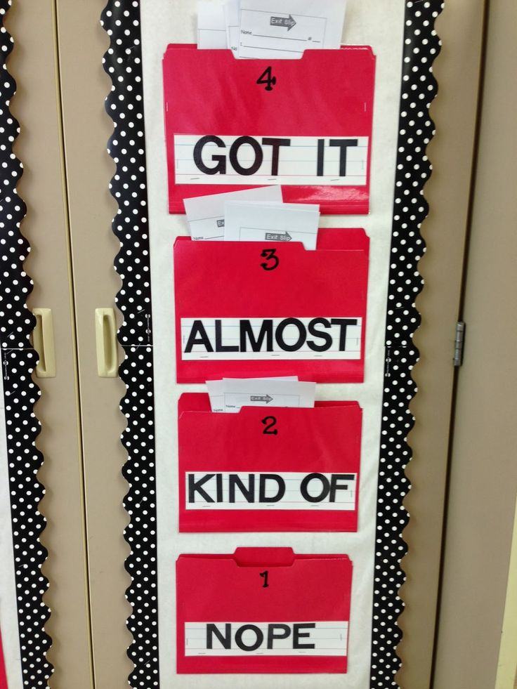 Have students self evaluate themselves with exit tickets.