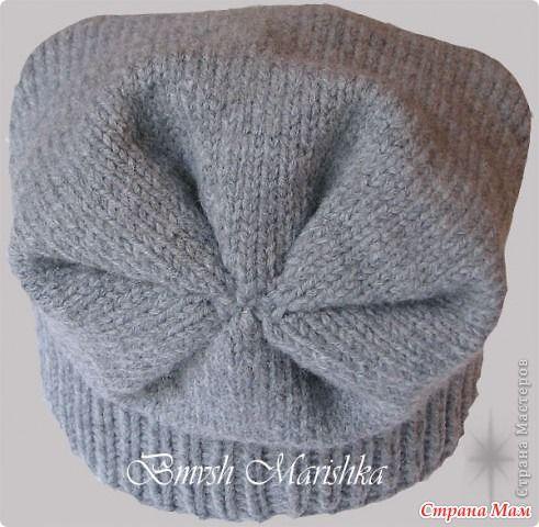 шапка бини спицами выкройка