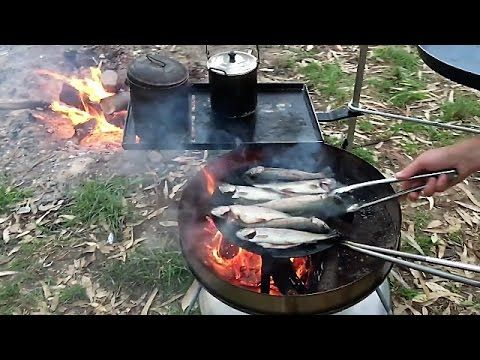 Australia Day Trout Fishing Camp Fire Cooking With Biji Barbie & The Boys - YouTube
