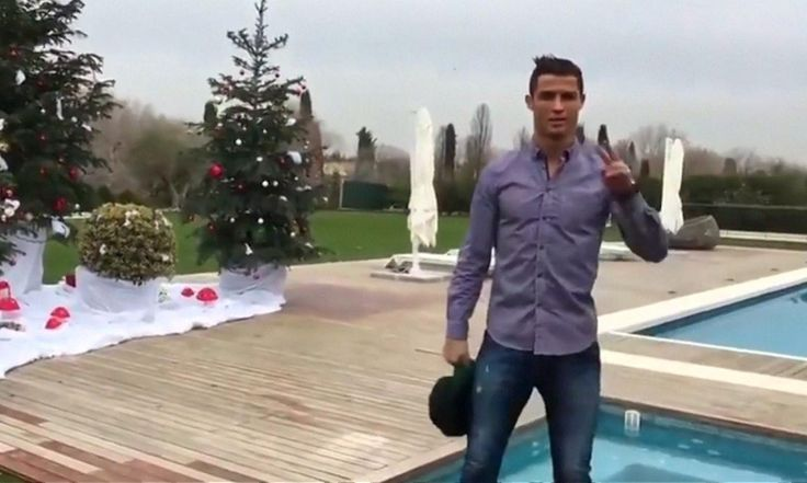 Real Madrid and Portugal football superstar Cristiano Ronaldo shows off his house in Madrid and wishes everyone a merry Christmas