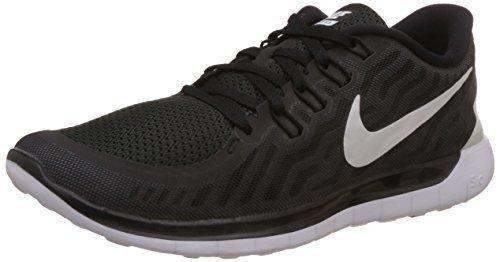 Nike Men's Free 5.0 Black/White/Dark Grey/Cl Grey Running Shoe 8.5 Men US