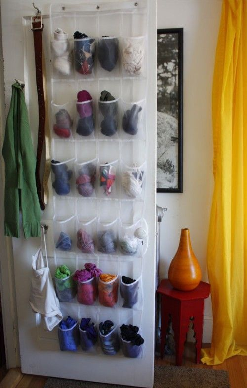 so many uses for the hanging shoe organizer, I may have to try this for socks