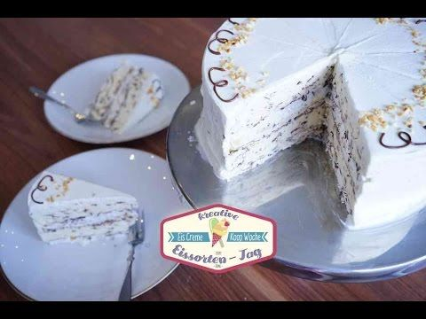 Eissplittertorte - klassische Eissplitter Torte mit Rum, Krokant & Baiss...