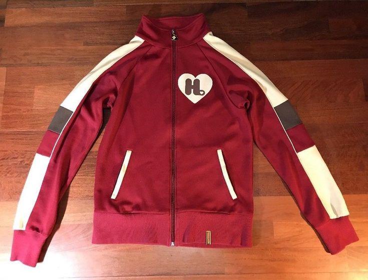 Harajuku Lovers Track Jacket Burgundy Womens Sz M Medium Gwen Stefani No Doubt | eBay