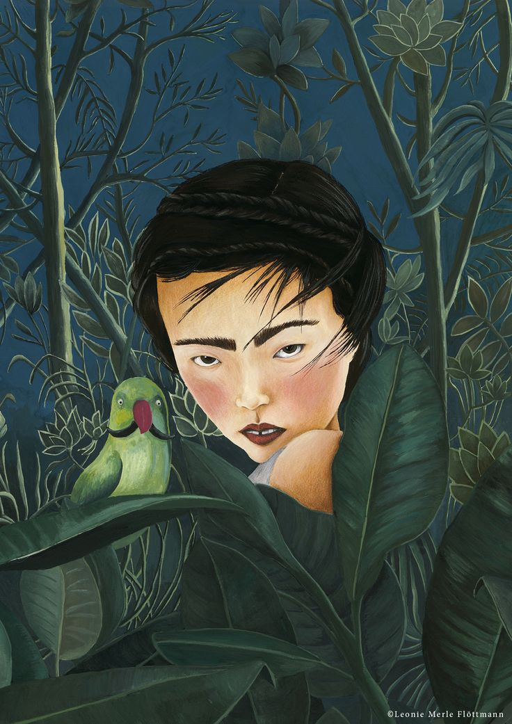 Meet me in the jungle, Henri - Hommage an  Henri Rousseau - Atelier Leo la Douce