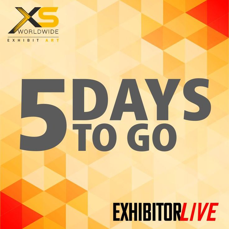 5 days to go before you get down to learning how to master trade show marketing & management fundamentals and develop better budgeting, goal-setting, and forecasting skills. See you at EXHIBITORLIVE 2018! #XSWorldwide #EventProfs #Exhibition #ExhibitorLIVE #ExhibitorLive2018