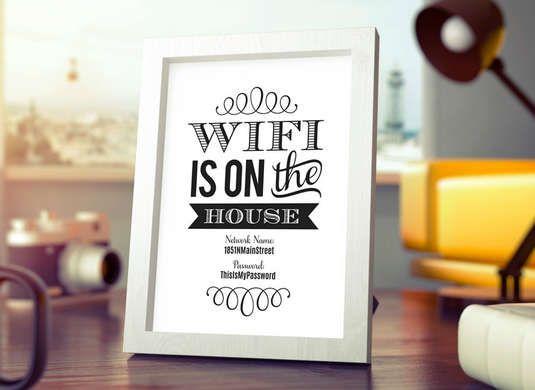 Framed Wi-Fi Password