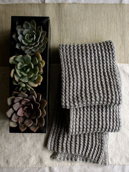 Whit's Knits: Rick RackScarf - Knitting Crochet Sewing Crafts Patterns and Ideas! - the purl bee