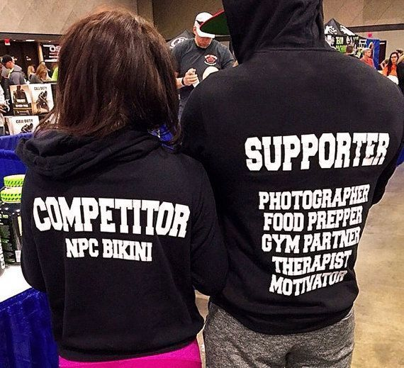 Fitness Competitor Hoodie Sweaters Couples sweaters