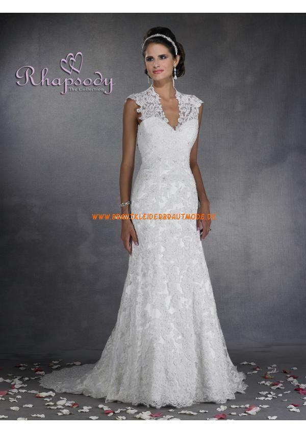 Sexy Türkische Brautkleider aus Satin und Spitze rückenfrei mit Schleppe