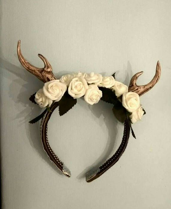 Check out this item in my Etsy shop https://www.etsy.com/uk/listing/515969114/fawn-white-rose-headband-fascinator