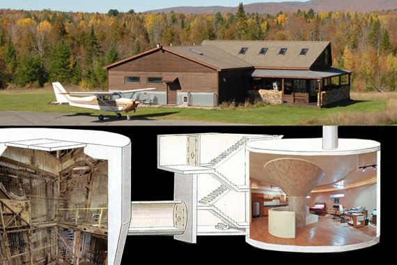 Built over a 2,300 square foot decommissioned missile silo in Upstate NY, this home is ready for worst case scenario...