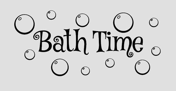 Bathroom Wall Decal Bath Time with Bubbles  by iheartdecals, $12.99