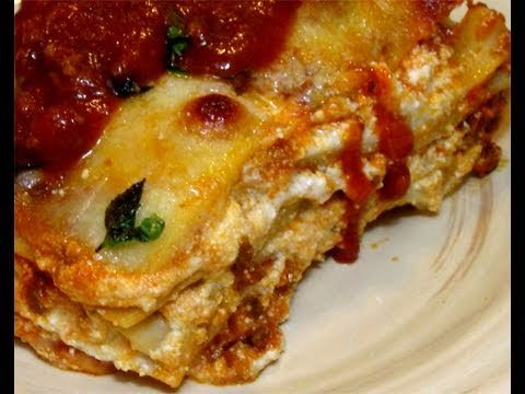 Classic Meat & Cheese Lasagna Recipe - Laura in the Kitchen - Internet Cooking Show Starring Laura Vitale