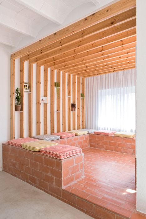 terracotta tiles on the balcony continue inside this barcelona holiday apartment - Terra Cotta Tile Apartment 2015