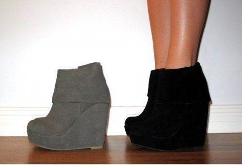 platform wedge booties